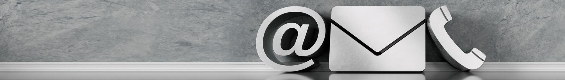 Duże ikony maila, poczty i telefonu